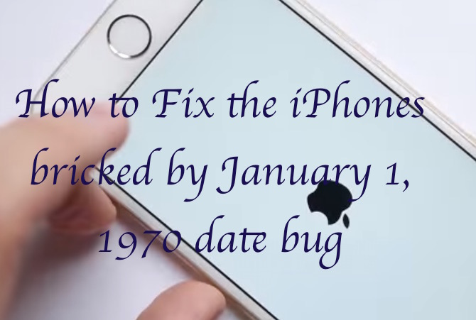 Fix bricked iPhone by date bug 1