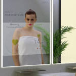 Bathroom of the future equipped with hi-tech