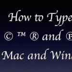 How to type Copyright, Trademark, Registered and Phonogram symbol on Mac and Windows