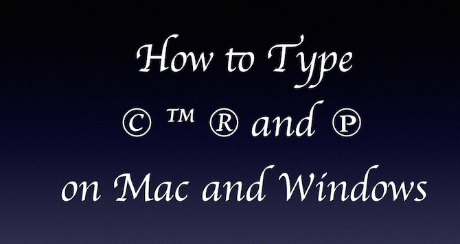 How To Type Copyright Trademark Symbol On Macwindows