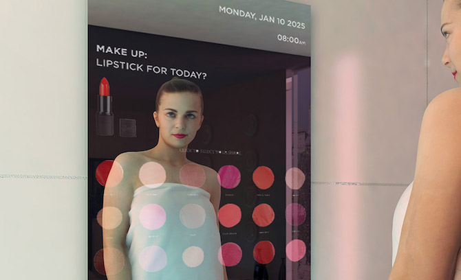 Smart Mirror with Make Up advice
