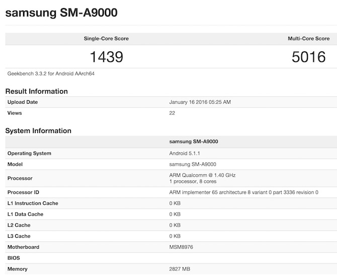Snapdragon 652 Geekbench 3