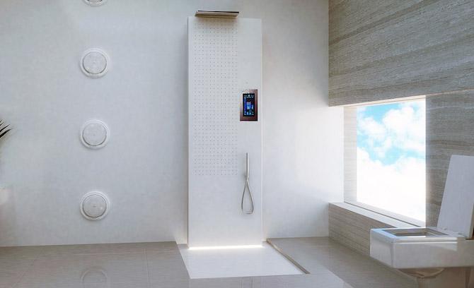 Speaker in bathroom and music