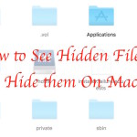 How to Hide or Unhide files and folders on Mac OS X