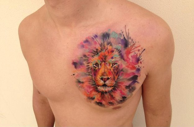 Watercolor tattoos made by Ondrash