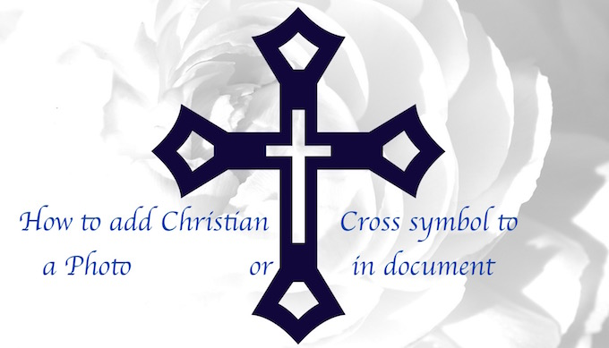 How To Addtype Christian Cross Sign On Mac Os X