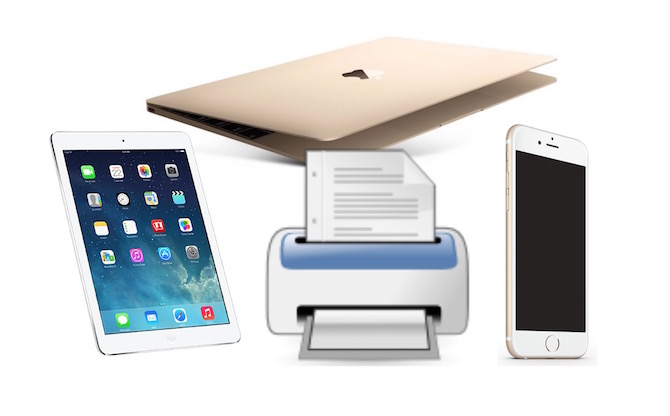 AirPrint to print from ipad mac iPod touch and ipad