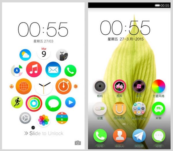 Apple Watch Theme for Xiaomi