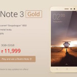 Now you can buy Xiaomi Redmi Note 3 Pro in India
