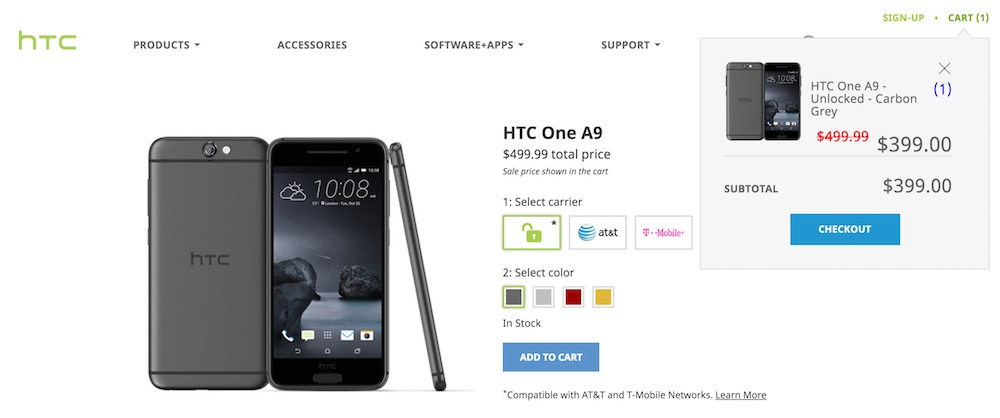 HTC One A9 Price Cut