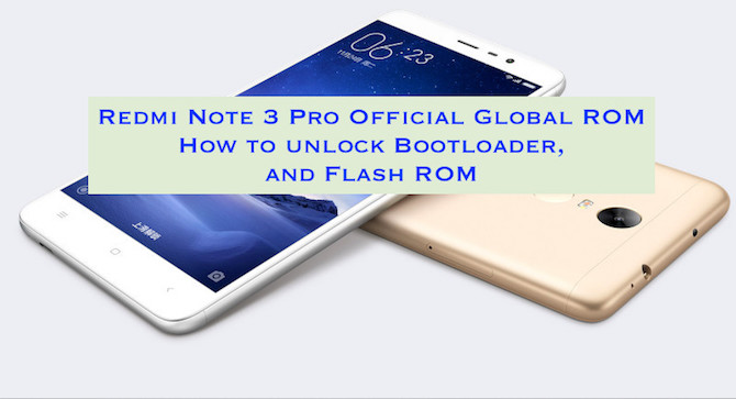 Redmi Note 3 Gloabl ROM