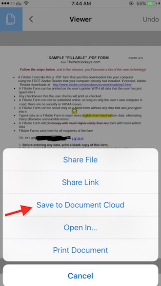 Save PDF On Cloud