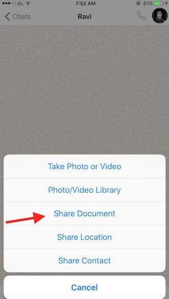 Share PDF on WhatsApp
