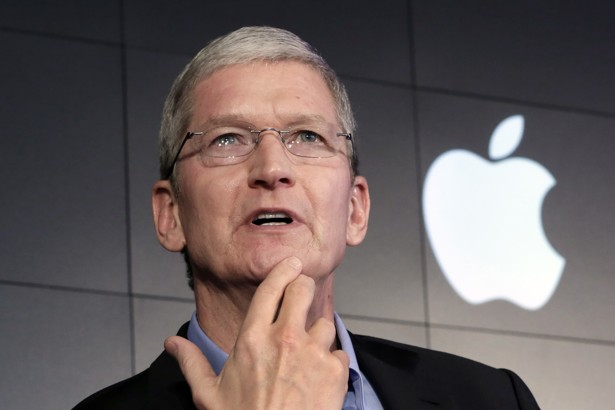 Tim Cook thoughtful