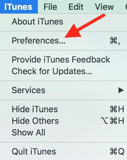 iTunes Prefrences