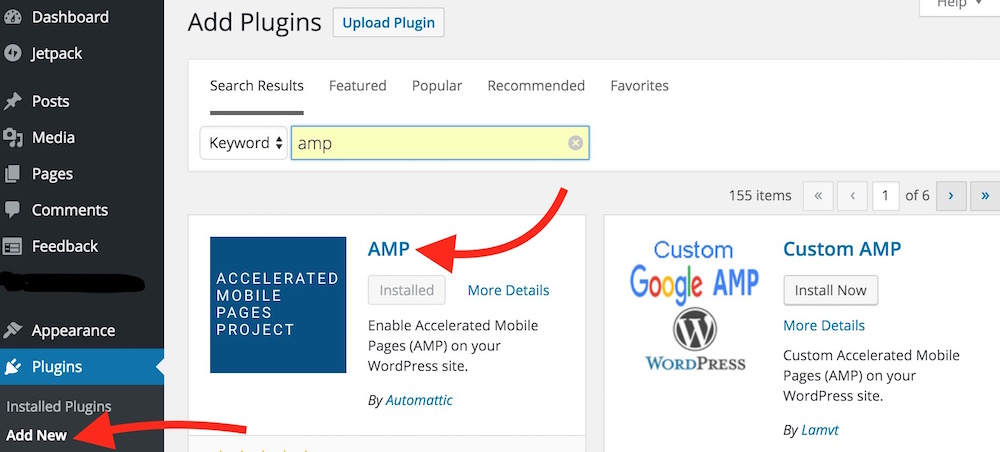 Adding AMP Plugin to WordPress