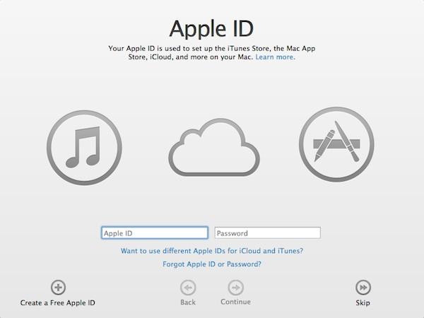 Change Apple ID password or cretae new one