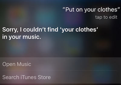 Clothes on Siri