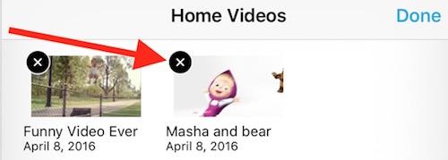 Delete videos iPhone