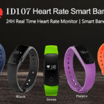 ID107 Smartwatch Wristband with Heart Rate Monitor