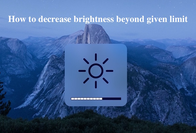 Mac brightness Option