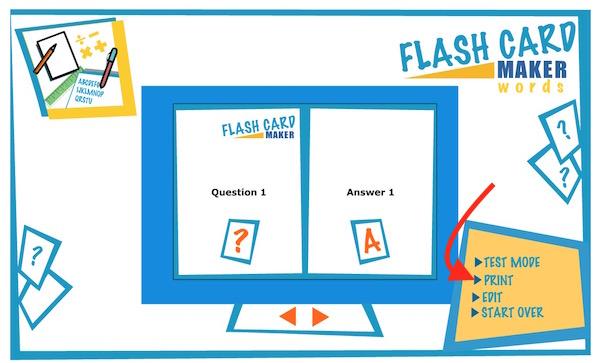 Printable Flash Card