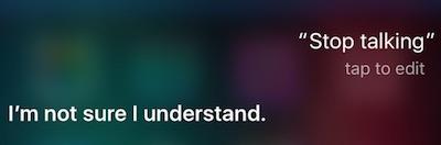 Stop Talking Siri