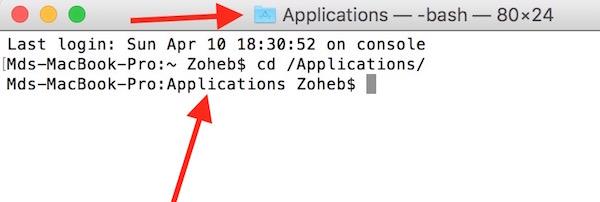 Terminal Applications folder