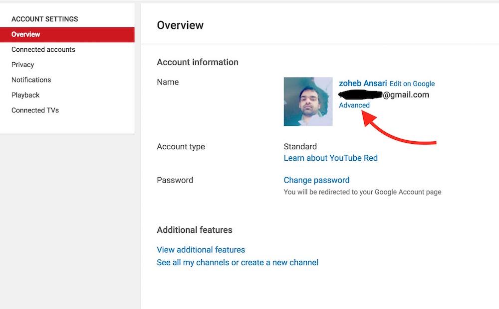 YouTube Advanced Settings