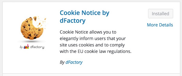 Cookie Notice by DFactory