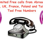Making calls to US, UK, France, Poland and Taiwan Toll Free Numbers from Abroad
