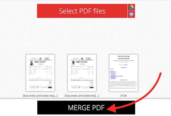 Merge PDF File online Free