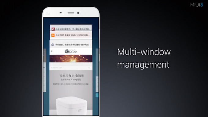 Multi Windows MIUI 8