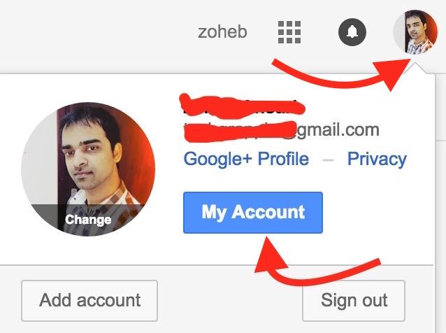 MyAccount Gmail