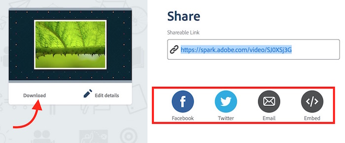 Save Spark Video Download and Share