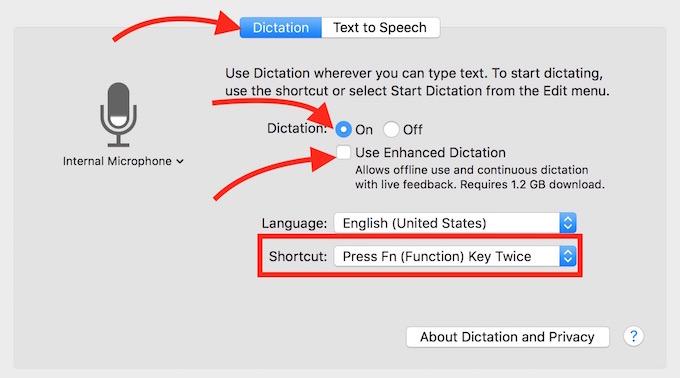 MacBook Speech to Text
