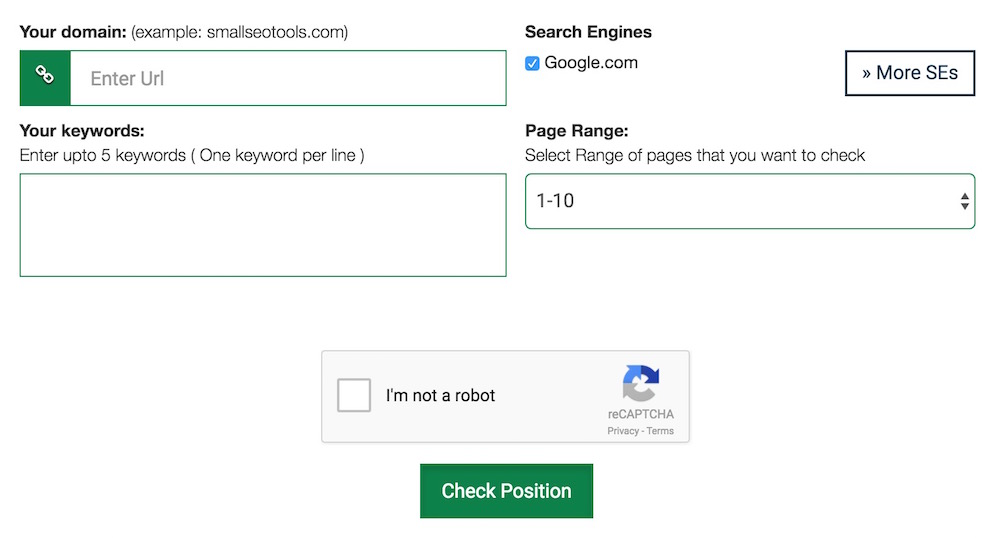 Small SEO Tool Keyword Rank Checker