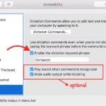 How do I Start Dictation by Voice Command on Mac OS X