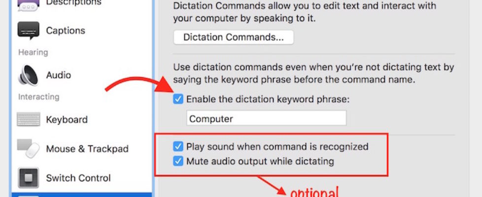 Start Dictation By Voice Command