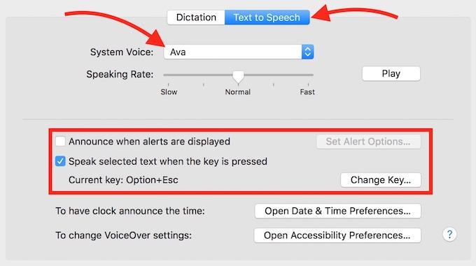 Text to Speech Mac