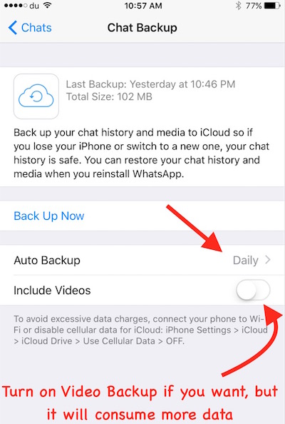 WhatsApp Auto BackUp