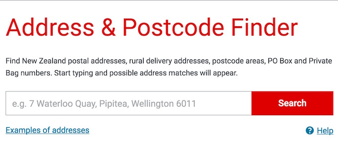 new Zealand Address FInder