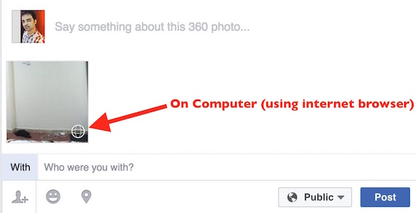 360 Facebook via browser