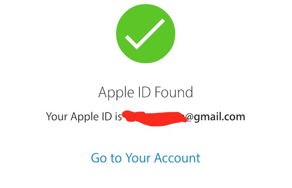 Apple ID found now
