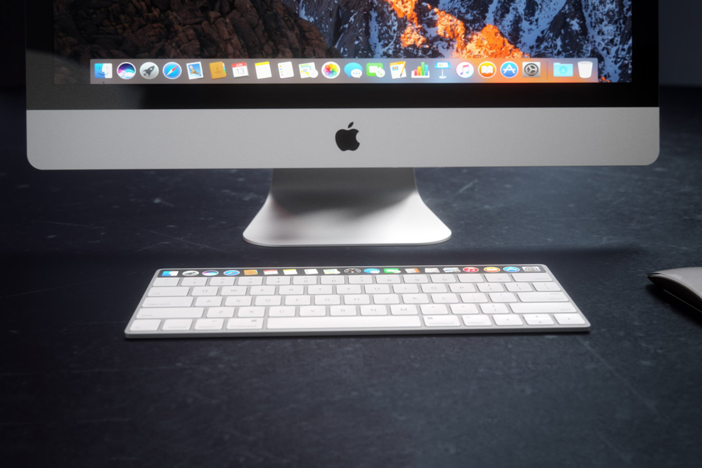 IMAC Keyboard with OLED Touch Bard 16