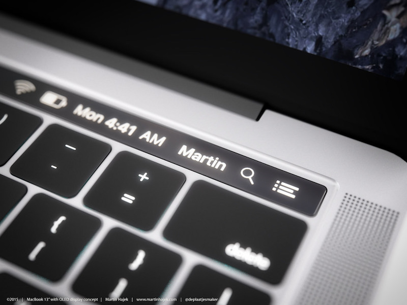 MacBook with OLED Touch Bar 12