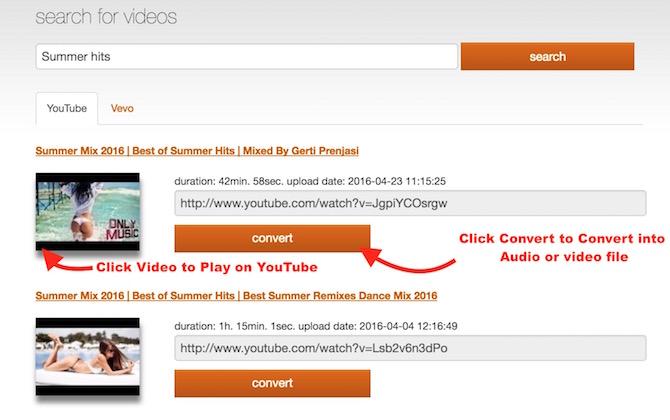 Seach and Convert video