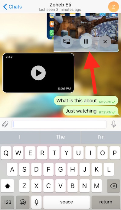 Telegram Picture in Picture