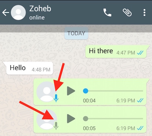 WhatsApp Plus Blue MicroPhone