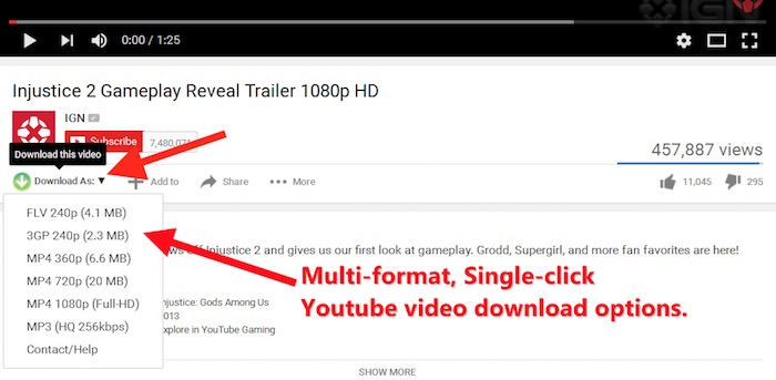 YouTube Download Firefox